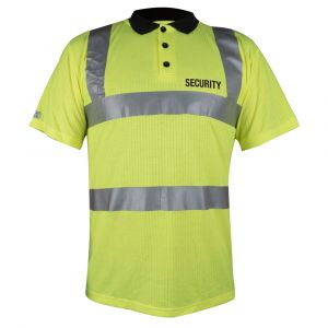 Hi-Vis Polo Shirt - Security Logo