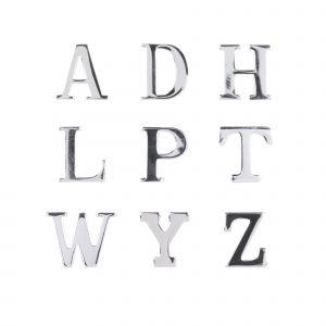 Chrome Letters Pins