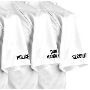 Black Comfort Shirt Stencil Logos - Pairs