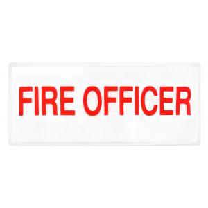 Fire Officer Hook & Loop Reflective Badges