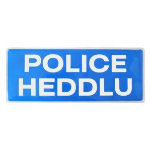 Police Heddlu Hook & Loop Reflective Badges