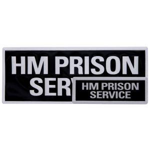 H M Prison Service Reflective Badges