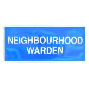 Neighbourhood Warden Hook & Loop Reflective Badge