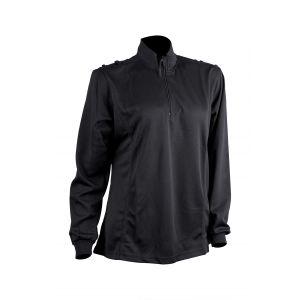 Ladies Long Sleeve Comfort Shirt - 2 Bar & Button Epaulette