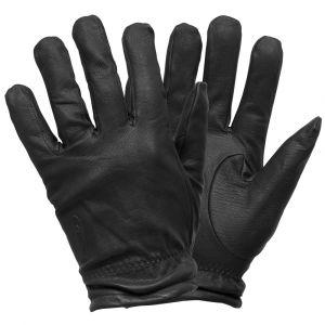FriskMaster Supermax Plus Gloves, black leather cut-resistant gloves, black search gloves
