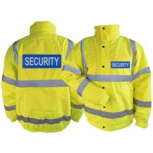 Hi-Vis Security Blouson Jacket - Yellow