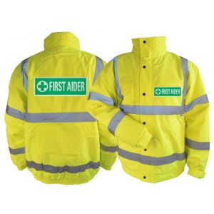 Hi-Vis First Aid Blouson Jacket - Yellow