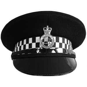 Police Flat Peaked Cap