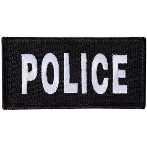 Embroidered Hook & Loop Police Badge - Small