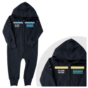 Children's POLICE or SECURITY Customised Onsie