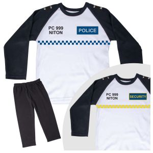 Children's POLICE or SECURITY Pyjama Set