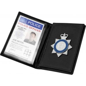 Leather Compact Warrant Card Holder