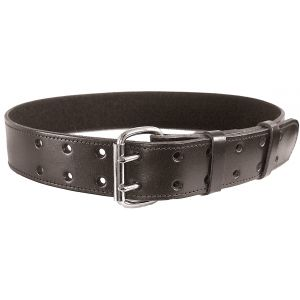 Leather Duty Belt with 2 Prong Buckle