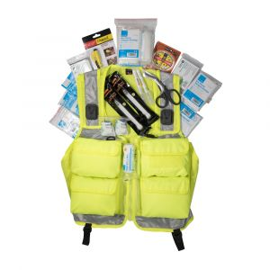 Major Incident Vest with contents, hi-vis incident vest, yellow incident vest
