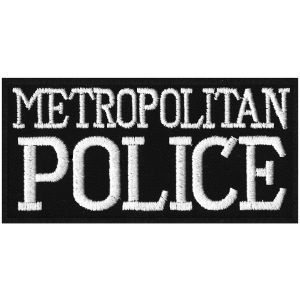 Embroidered Metropolitan Police Badge