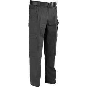 """100% Cotton Canvas Trousers - Black 32"""" Leg"""