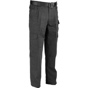 100% Cotton Canvas Trousers - Black