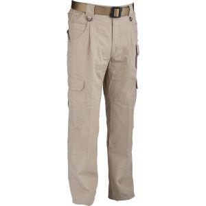 """100% Cotton Canvas Trousers - Sand 32"""" Leg"""