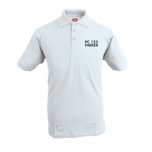 Embroidered Polo Shirt - White