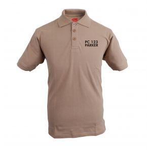 Embroidered Polo Shirt - Sand