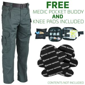Niton Tactical EMS Trousers - FREE Knee Pads & Medic Pocket Buddy
