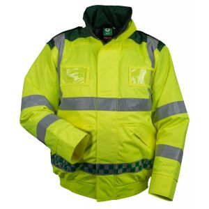 High Visibility Green and Yellow Blouson Jacket