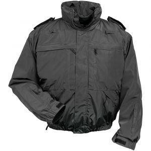 Mission 5 Jacket - Black, Black Multifunctional Jacket, Tactical Jacket