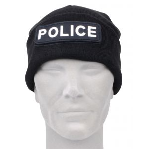Watch Cap With Removable Hook & Loop Police Logo