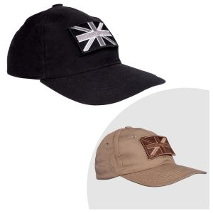 Baseball Cap with Embroidered Badges