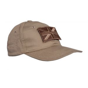 Sand Baseball Cap with Embroidered Badges