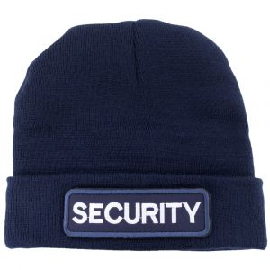 Navy Watch Cap with Removable Hook & Loop Security Logo