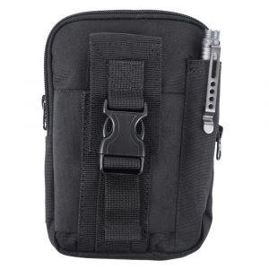 EDC Multifunction Pouch, black nylon pouch, compact pouch