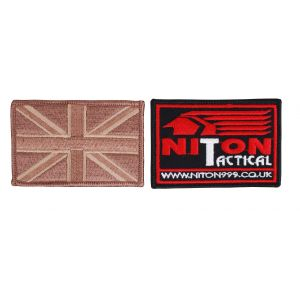 Embroidered Union Flag Hook & Loop Badges - 2 Pack