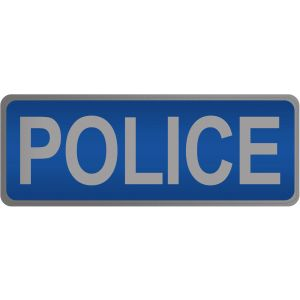 Police Hook & Loop Reflective Blue Badge