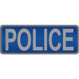 Police Hook & Loop Reflective Blue Badge - Small - Small