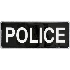 Police Hook & Loop Reflective Black Badge