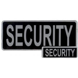 Security Hook & Loop Reflective Black Badges - 2 Pack