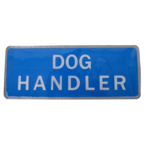 Dog Handler Hook & Loop Reflective Blue Badge
