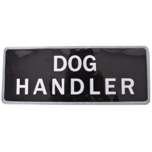 Dog Handler Hook & Loop Reflective Black Badge