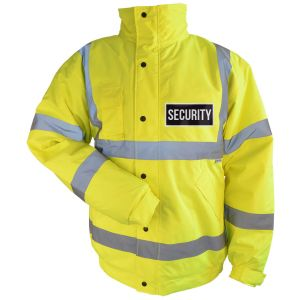 Clearance Size High Visibility Blouson Jacket - SECURITY Logo