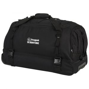 Snugpak Subdivide 90L Carry All, black travel baggage, tactical travel baggage, black travel holdall, travel bag with drag handle