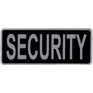 Security Hook & Loop Reflective Black Badge
