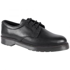 Grafters Leather Uniform Shoe, black leather uniform shoe, occupational leather shoe