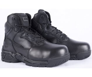 """Magnum Stealth Force 6"""" Safety Boots, black leather safety boots, safety footwear"""