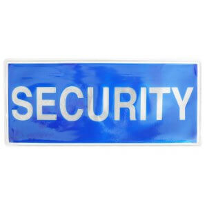 Security Sew On Reflective Badges