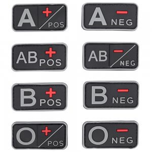 Rubberised Blood Group Patches