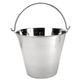 Flat Sided Stainless Steel Pail - 5.6ltr