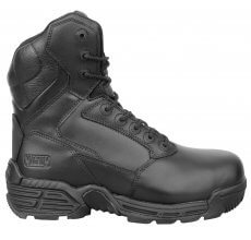 """Magnum Stealth Force 8"""" Safety Boots, black leather safety boots, safety footwear"""