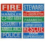 Heat Sealed Reflective Badges