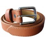 Hand Finished Leather Belt  - Tan